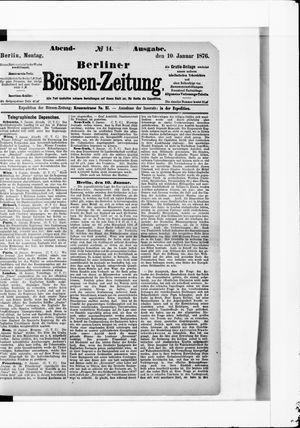 Berliner Börsen-Zeitung vom 10.01.1876