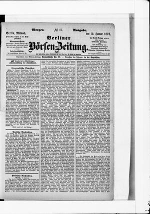Berliner Börsen-Zeitung vom 12.01.1876