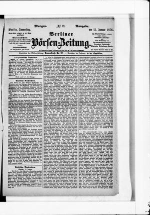 Berliner Börsen-Zeitung vom 13.01.1876