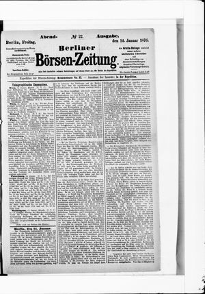 Berliner Börsen-Zeitung vom 14.01.1876