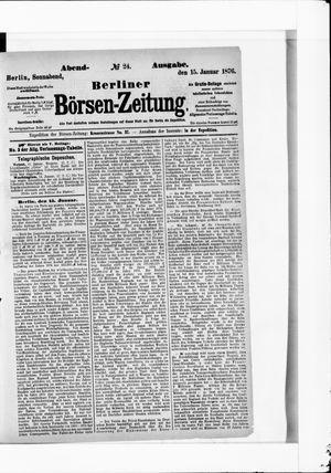 Berliner Börsen-Zeitung vom 15.01.1876