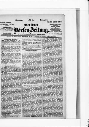 Berliner Börsen-Zeitung vom 16.01.1876
