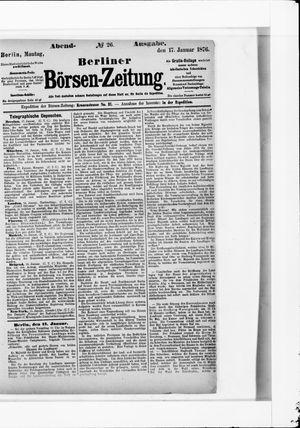 Berliner Börsen-Zeitung vom 17.01.1876