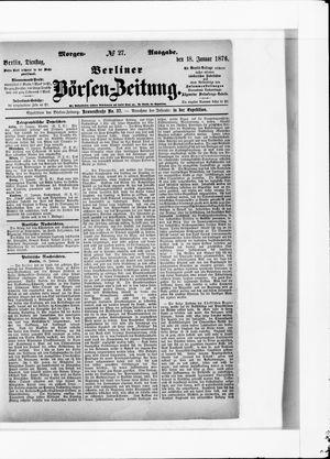 Berliner Börsen-Zeitung vom 18.01.1876