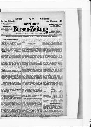 Berliner Börsen-Zeitung vom 19.01.1876