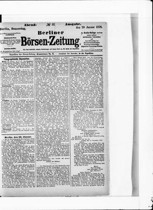 Berliner Börsen-Zeitung vom 20.01.1876