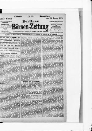 Berliner Börsen-Zeitung vom 24.01.1876