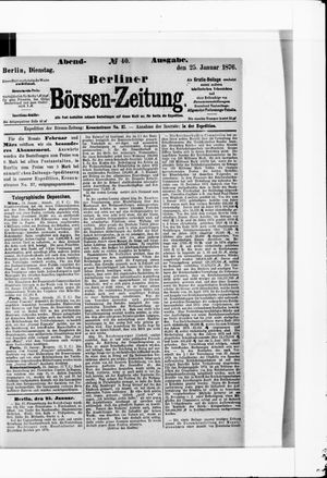 Berliner Börsen-Zeitung vom 25.01.1876