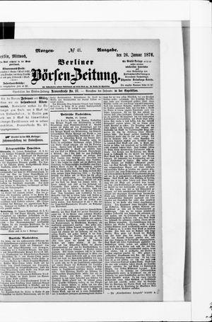 Berliner Börsen-Zeitung vom 26.01.1876