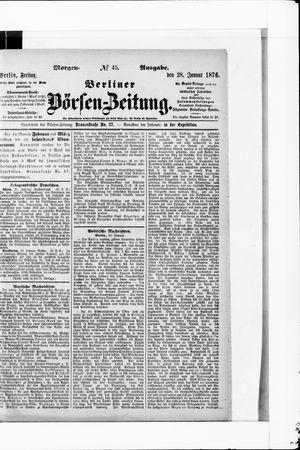 Berliner Börsen-Zeitung vom 28.01.1876