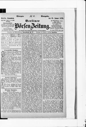 Berliner Börsen-Zeitung vom 29.01.1876