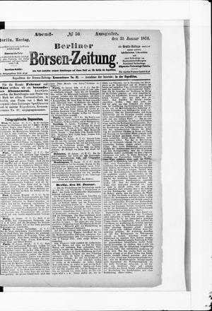 Berliner Börsen-Zeitung vom 31.01.1876