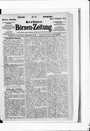 Berliner Börsen-Zeitung vom 01.02.1876