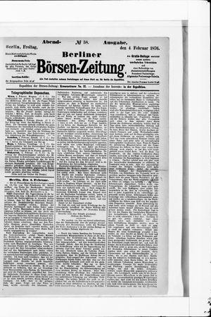 Berliner Börsen-Zeitung vom 04.02.1876