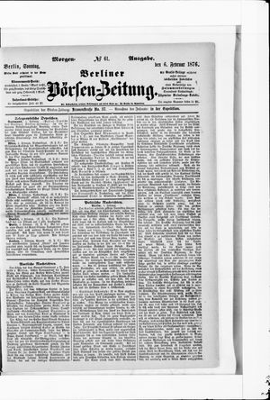 Berliner Börsen-Zeitung vom 06.02.1876