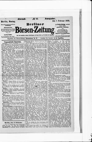 Berliner Börsen-Zeitung vom 07.02.1876