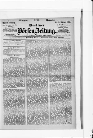 Berliner Börsen-Zeitung vom 08.02.1876