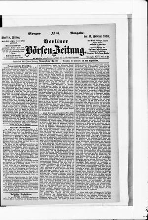 Berliner Börsen-Zeitung vom 11.02.1876