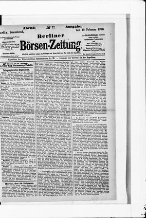 Berliner Börsen-Zeitung vom 12.02.1876