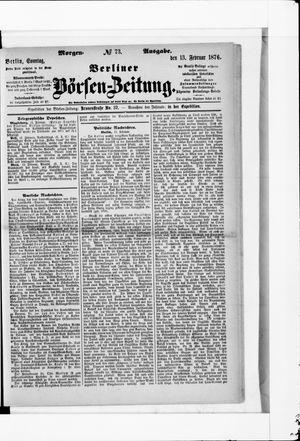 Berliner Börsen-Zeitung vom 13.02.1876