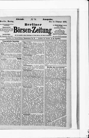 Berliner Börsen-Zeitung vom 14.02.1876