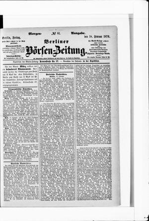 Berliner Börsen-Zeitung vom 18.02.1876