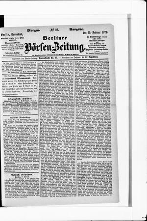 Berliner Börsen-Zeitung vom 19.02.1876