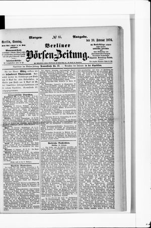 Berliner Börsen-Zeitung vom 20.02.1876