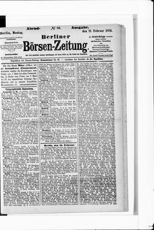 Berliner Börsen-Zeitung vom 21.02.1876
