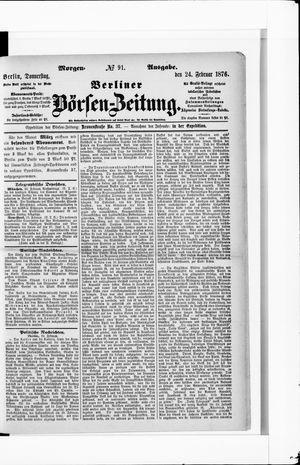 Berliner Börsen-Zeitung vom 24.02.1876
