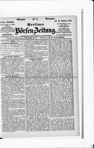 Berliner Börsen-Zeitung vom 26.02.1876