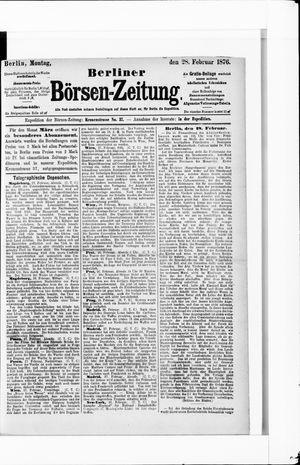 Berliner Börsen-Zeitung vom 28.02.1876