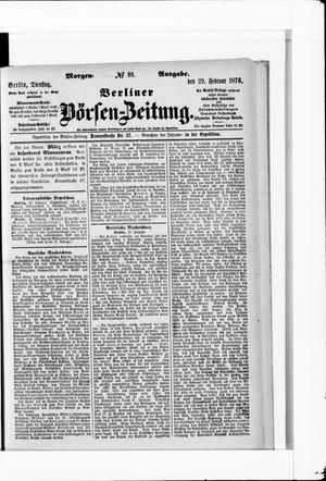 Berliner Börsen-Zeitung vom 29.02.1876
