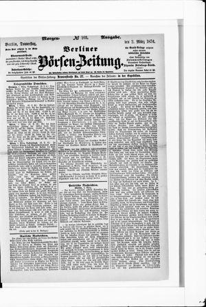 Berliner Börsen-Zeitung vom 02.03.1876