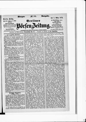 Berliner Börsen-Zeitung vom 03.03.1876