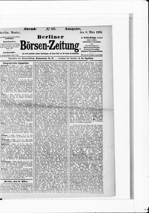 Berliner Börsen-Zeitung vom 06.03.1876