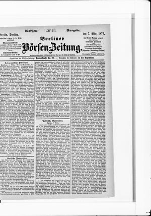 Berliner Börsen-Zeitung vom 07.03.1876