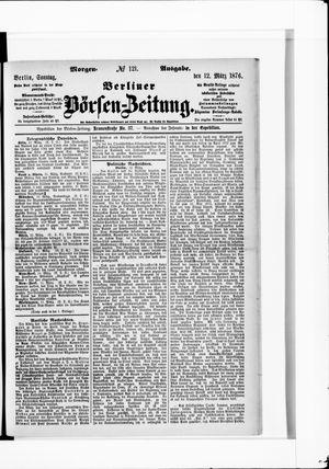 Berliner Börsen-Zeitung vom 12.03.1876