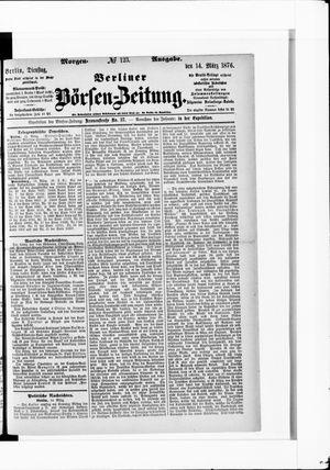 Berliner Börsen-Zeitung vom 14.03.1876