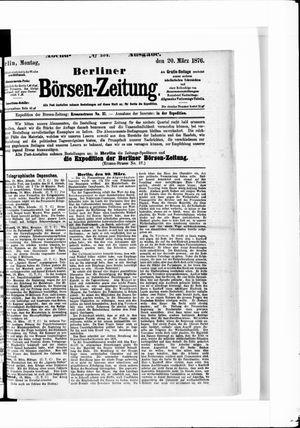 Berliner Börsen-Zeitung vom 20.03.1876