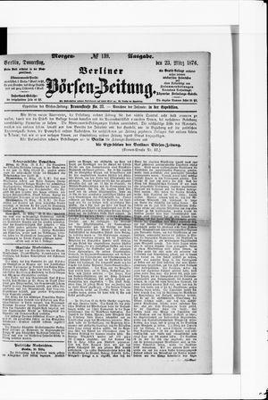 Berliner Börsen-Zeitung vom 23.03.1876