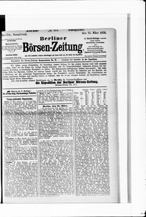 Berliner Börsen-Zeitung vom 25.03.1876