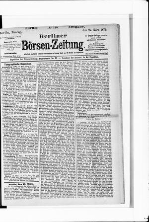 Berliner Börsen-Zeitung vom 27.03.1876