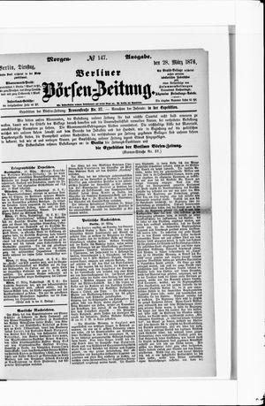 Berliner Börsen-Zeitung on Mar 28, 1876