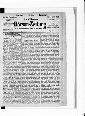Berliner Börsen-Zeitung vom 01.04.1876