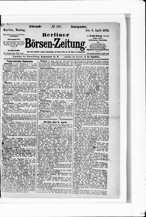 Berliner Börsen-Zeitung vom 03.04.1876