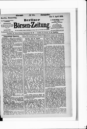 Berliner Börsen-Zeitung vom 06.04.1876