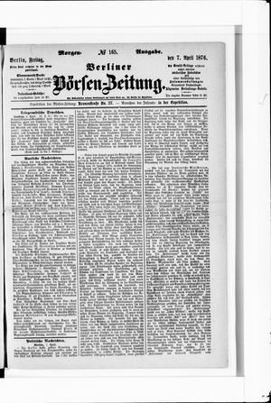 Berliner Börsen-Zeitung vom 07.04.1876