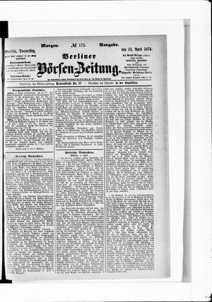 Berliner Börsen-Zeitung on Apr 13, 1876