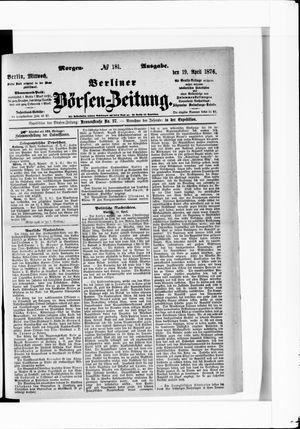 Berliner Börsen-Zeitung vom 19.04.1876